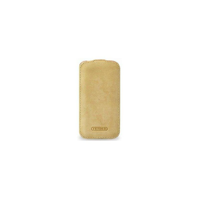 Кожаный чехол Tetded Nature для Samsung Galaxy S4 i9500 Sand Beige