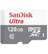 Карта памяти SanDisk 128GB microSDXC C10 UHS-I R100MB/s Ultra + SD (SDSQUNR-128G-GN3MA)