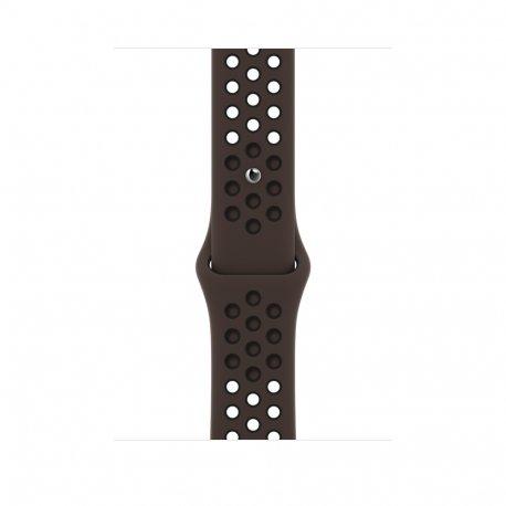 Ремешок для Apple Watch 42/44mm Ironstone/Black Nike Sport Band (MJ6M3)
