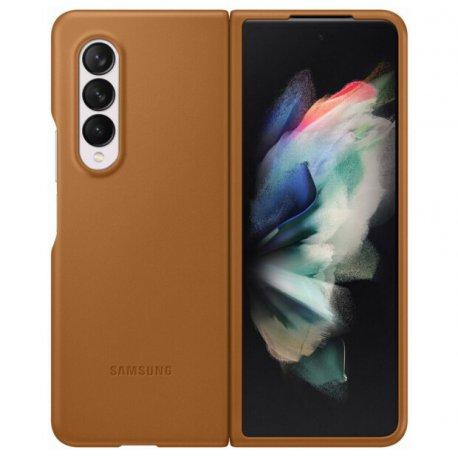 Чехол Samsung Leather Cover для Galaxy Z Fold 3 (F7926) Camel (EF-VF926LAEGRU)