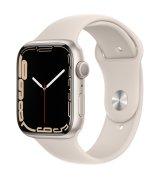 Apple Watch Series 7 45mm (GPS) Starlight Aluminum Case with Starlight Sport Band (MKN63)