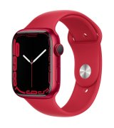 Apple Watch Series 7 45mm (GPS) (Product)Red Aluminum Case with (Product)Red Sport Band (MKN93)