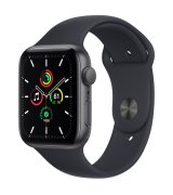 Apple Watch SE 44mm (GPS) Space Gray Aluminum Case with Midnight Sport Band (MKQ63UL/A)
