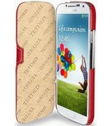 Кожаный чехол Tetded Book для Samsung Galaxy S4 i9500 Red