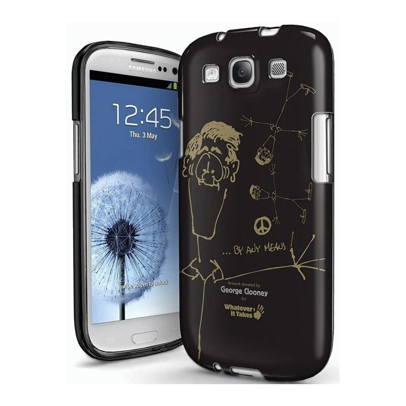 Whatever It Takes Premium Gel Shell George Clooney накладка для Samsung Galaxy S3 i9300 Black