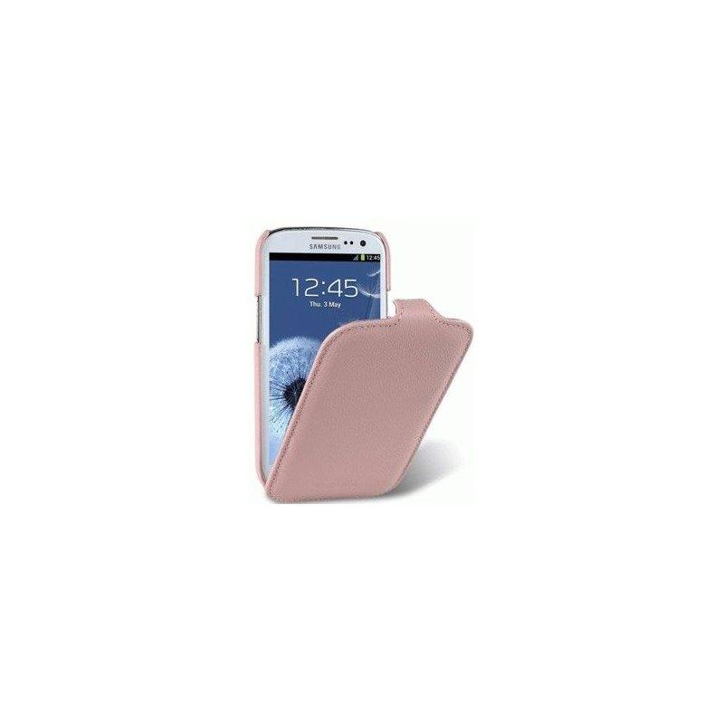 Кожаный чехол Melkco Flip для Samsung Galaxy S4 Mini Duos I9192 Pink