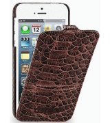 Кожаный чехол Tetded Wild Series для Apple iPhone 5/5S Dark Brown