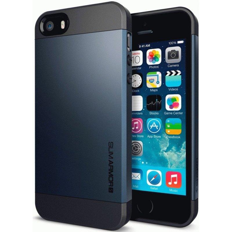 SGP iPhone 5/5S Case Slim Armor S Metal Slate (SGP10365)