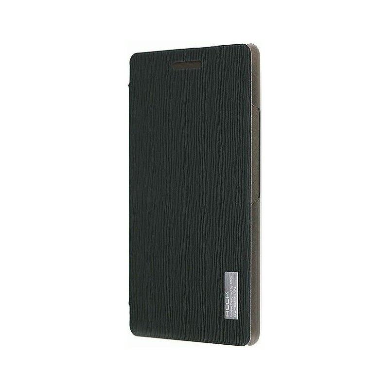 Чехол Rock Elegant Series Leather Flip Case Cover для Huawei P6 Black