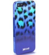 Puro Just Cavalli Leopard накладка для iPhone 5 Blue