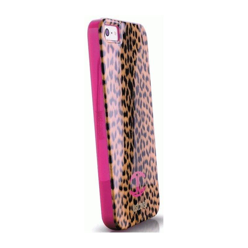 Puro Just Cavalli Leopard накладка для iPhone 5/5S Pink