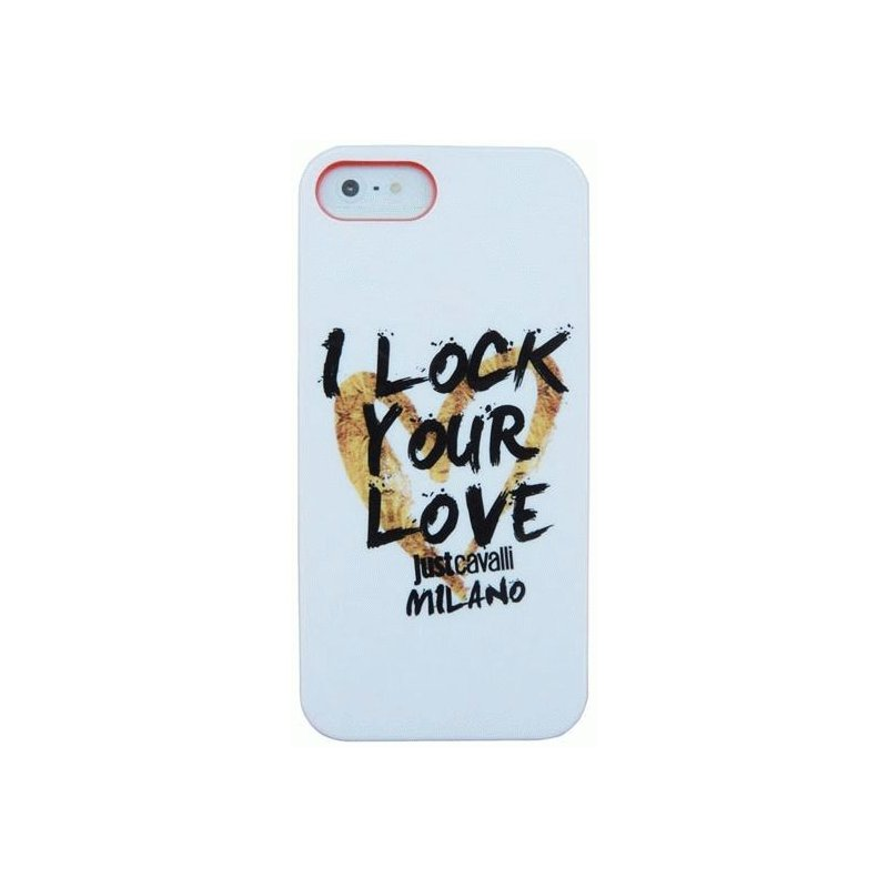Puro Just Cavalli I Lock Your Love накладка для iPhone 5/5S White