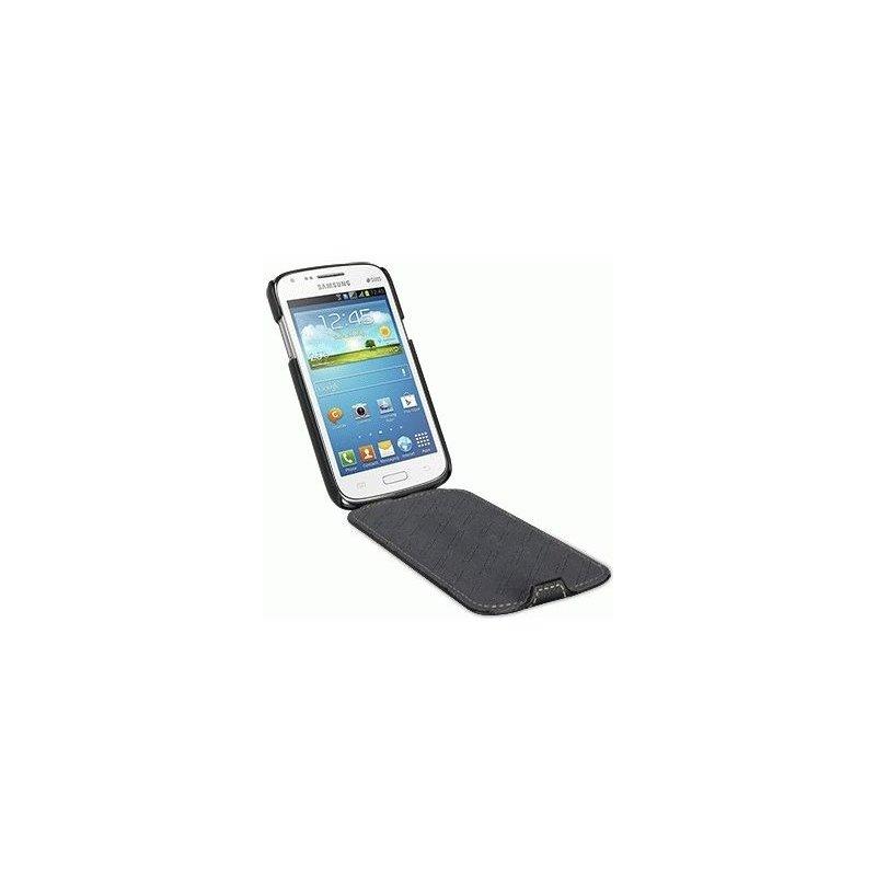 Кожаный чехол Tetded Flip для Samsung Galaxy Core i8262 Black