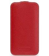 Кожаный чехол Tetded Flip для Samsung Galaxy Core i8262 Red