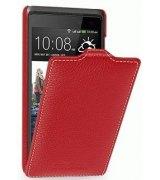 Кожаный чехол Tetded Flip для HTC Desire 600 Red