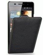 Кожаный чехол Tetded Flip для Huawei Ascend P6 Black