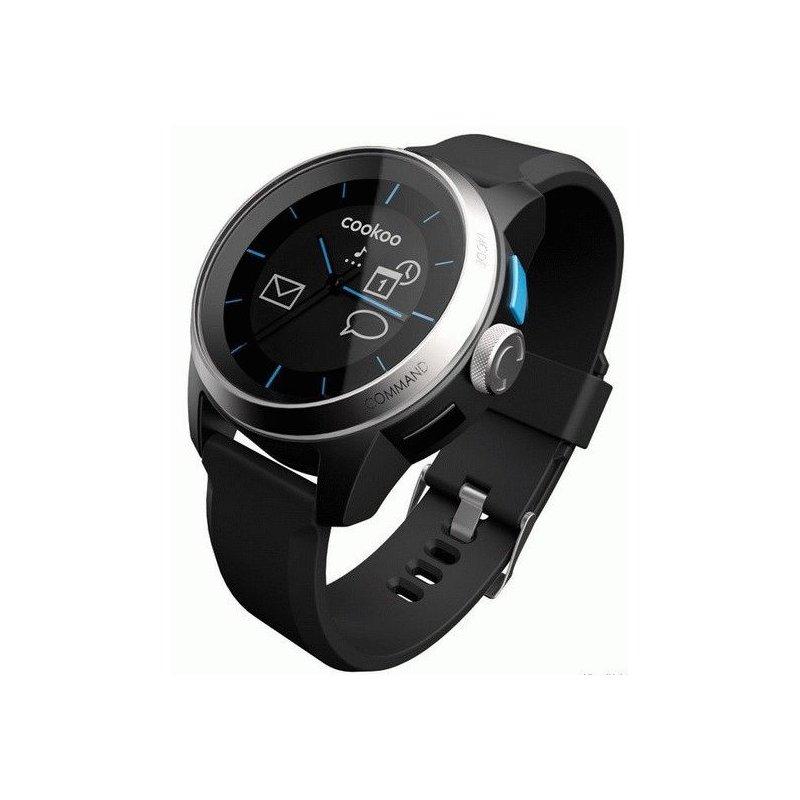 Часы COOKOO Watch SilverOnBlack (CKW-SK002-01)