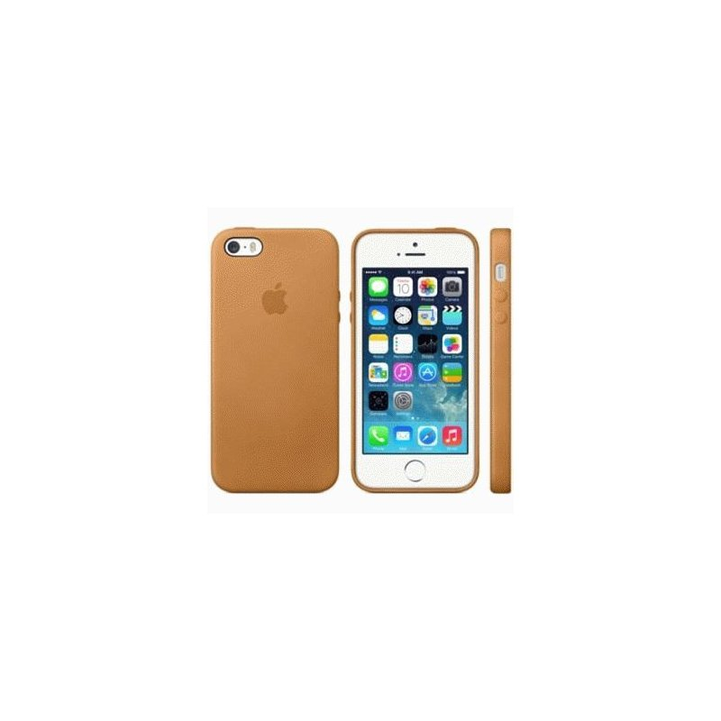 Чехол Apple iPhone 5s Leather Case Brown (MF041)