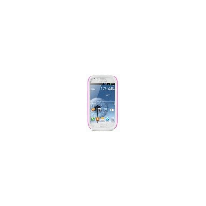 Накладка Melkco Kubalt для Samsung i8190 Galaxy S3 mini Pink-White