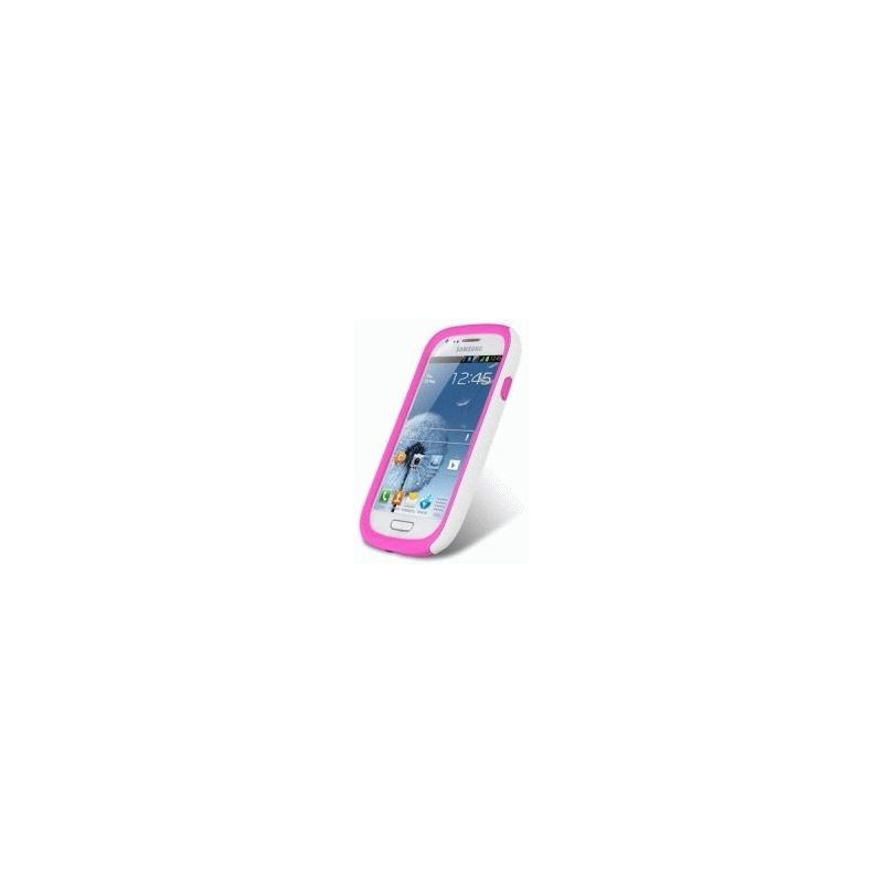 Накладка Melkco Kubalt для Samsung i8190 Galaxy S3 mini White-Pink