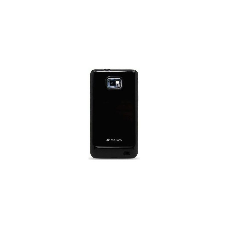 TPU накладка Melkco Poly Jacket для Samsung Galaxy S2 I9100 Black