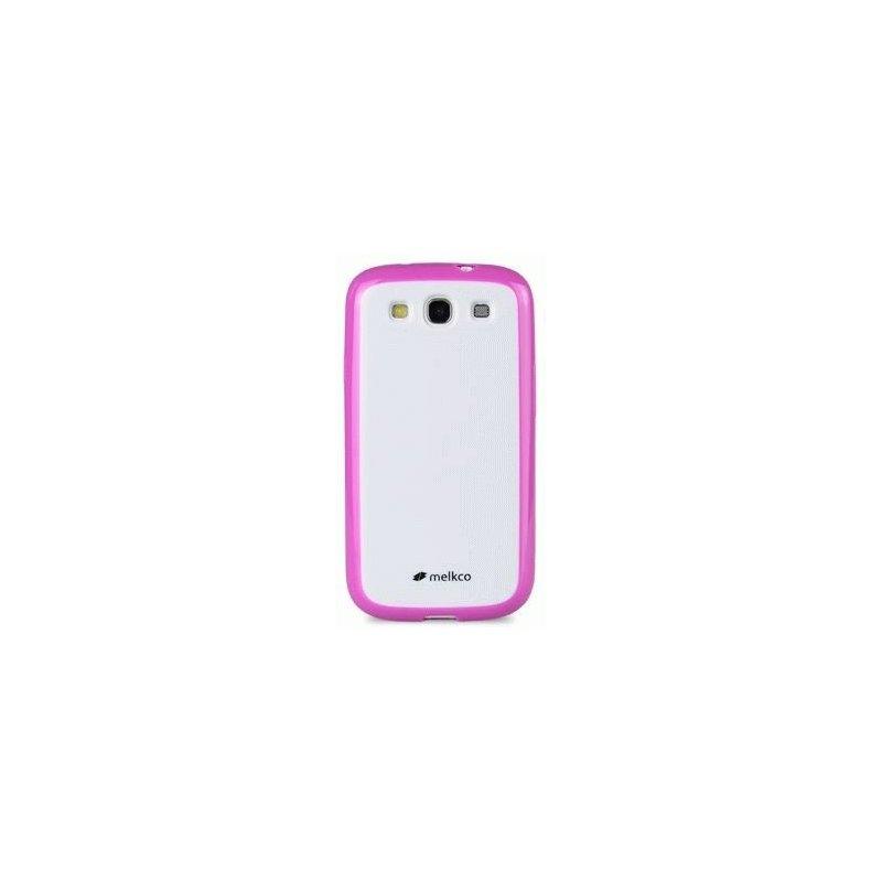 Накладка Melkco Poly Frame для Samsung i9100 Galaxy S2 Pink-White