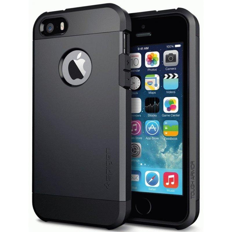 SGP iPhone 5/5S Case Tough Armor Smooth Black (SGP10492)