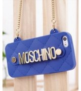 Чехол Moschino Silicon Bag для iPhone 5/5S Blue