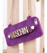 Чехол Moschino Silicon Bag для iPhone 5/5S Purple