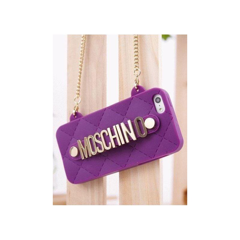 Чехол Moschino Silicon Bag для iPhone 5/5S Purple