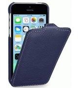 Кожаный чехол Tetded Flip для iPhone 5C Navy Blue