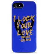 Puro Just Cavalli I Lock Your Love накладка для iPhone 5/5S Blue