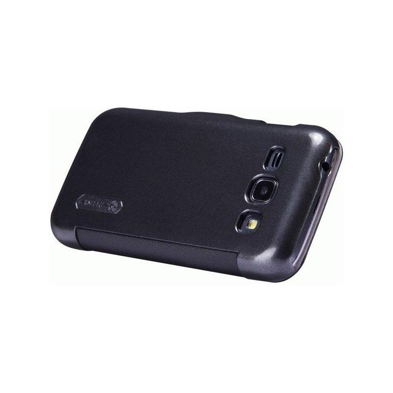 Кожаный чехол Nillkin Super Frosted Shield для Samsung S7272 Galaxy Ace 3 Black