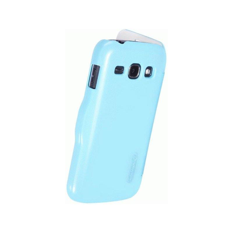 Кожаный чехол Nillkin Super Frosted Shield для Samsung S7272 Galaxy Ace 3 Blue