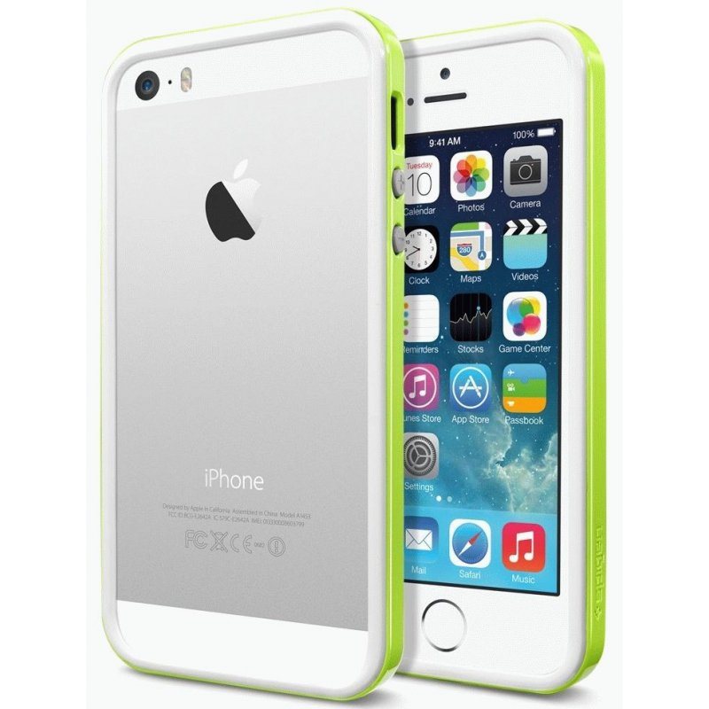 Бампер для iPhone 5 SGP Case Neo Hybrid EX Slim Snow Infinity Lime (SGP10029)
