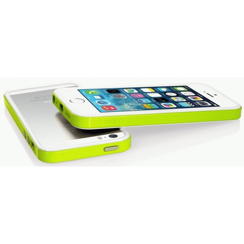 Бампер для iPhone 5 SGP Case Neo Hybrid EX Slim Snow Lime (SGP10029)