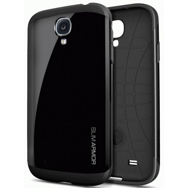 SGP Samsung Galaxy S4 I9500 Case Slim Armor Soul Black (SGP10203)