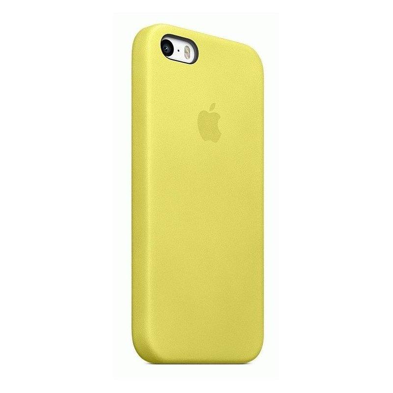 Чехол Apple iPhone 5s Leather Case Yellow (MF043)