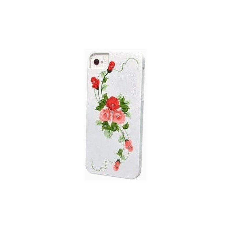 iCover Hand Printing Vintage Rose для Apple IPhone 5/5S Red