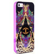 Puro Just Cavalli Wings накладка для iPhone 5/5S Black