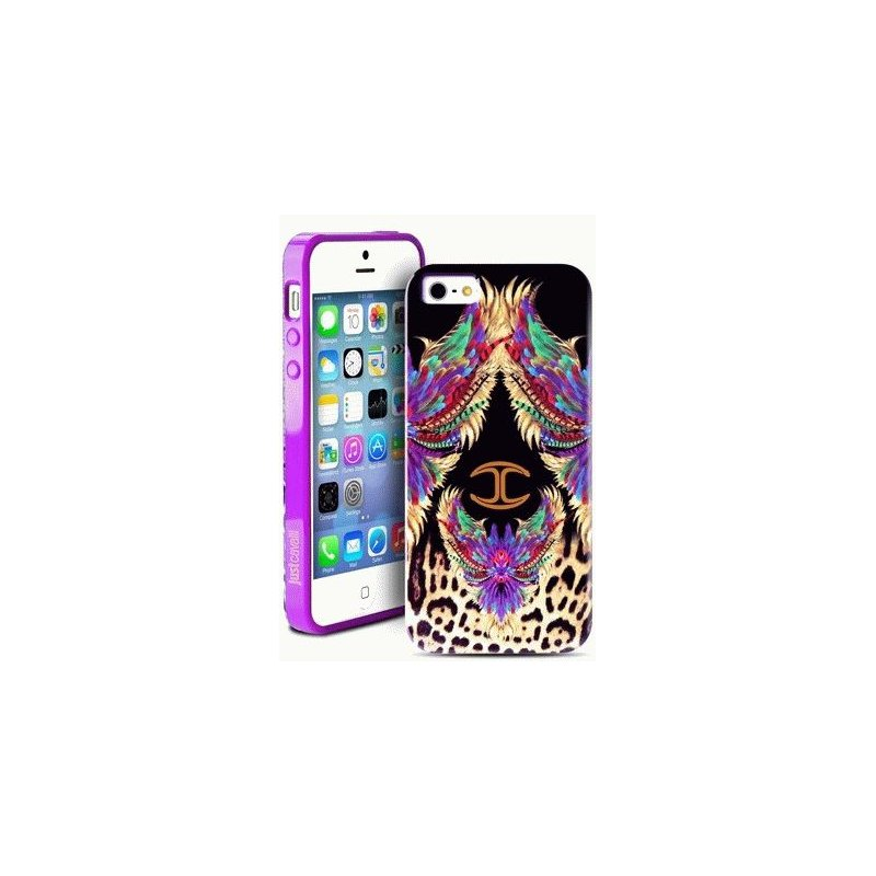 Puro Just Cavalli Wings накладка для iPhone 5/5S Purple
