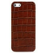 Кожаная накладка Tetded Wild Series для Apple iPhone 5/5S Brown