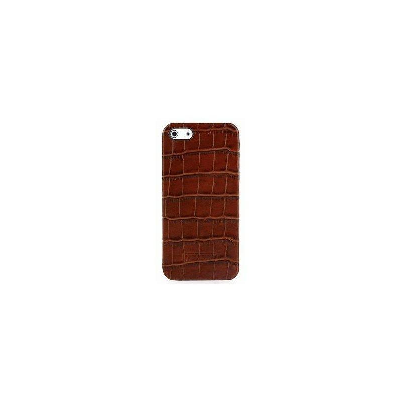 Кожаная накладка Tetded Wild Series для Apple iPhone 5/5S Brown