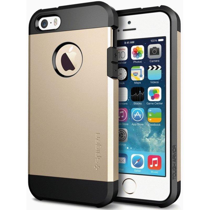 SGP iPhone 5/5S Case Tough Armor Champagne Gold (SGP10584)