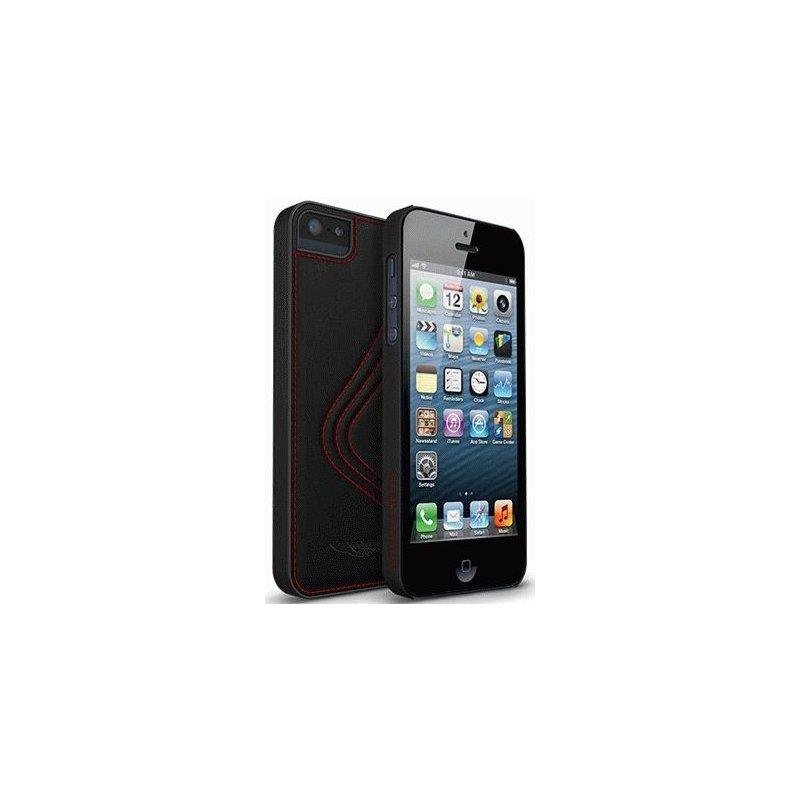 Накладка Aston Martin Snap ST/M series Genuine Leather Case для iPhone 5/5S Black