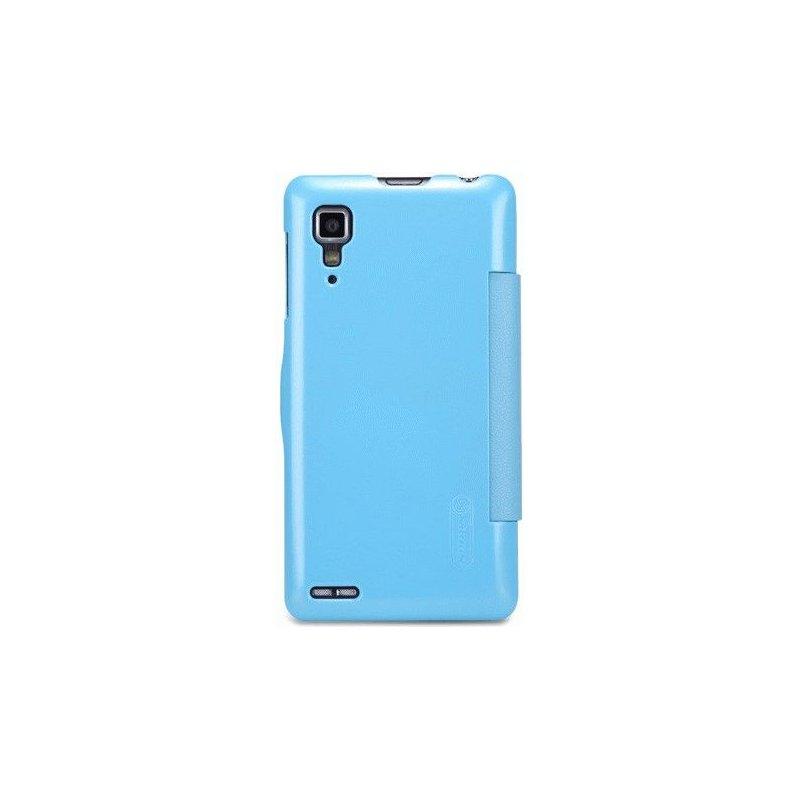 Кожаный чехол Nillkin Fresh Leather Case для Lenovo P780 Blue
