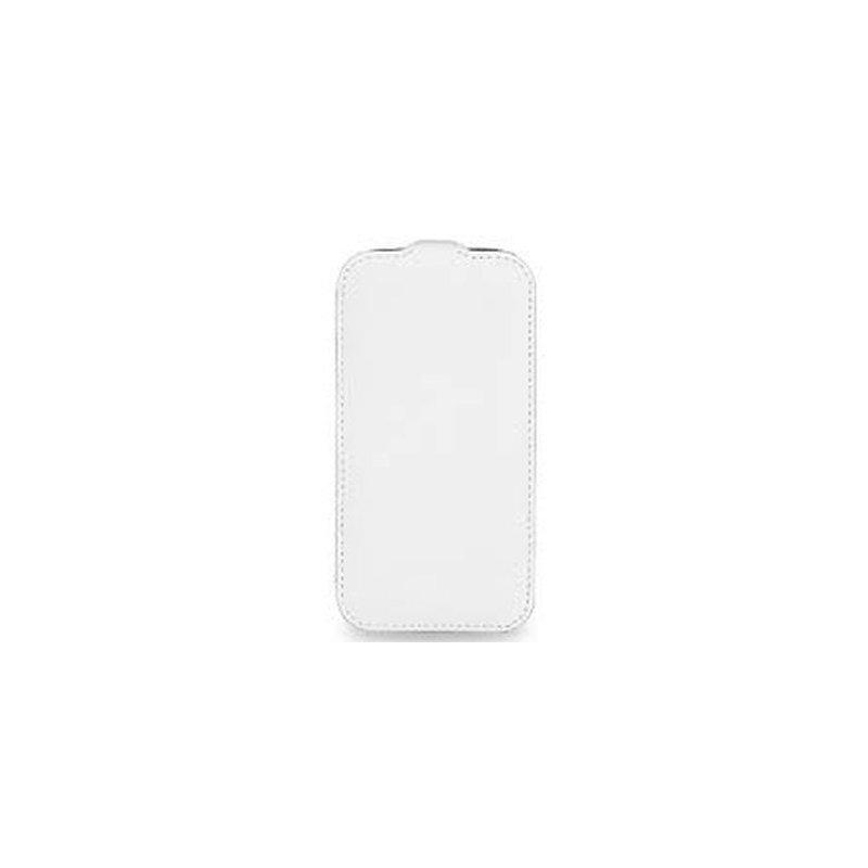Кожаный чехол Tetded Flip для Samsung Galaxy Core i8262 White