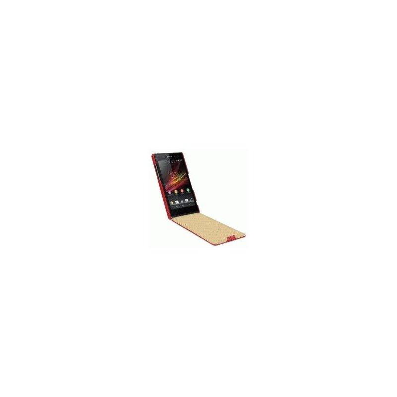 Кожаный чехол Tetded Flip для Sony Xperia Z1 Red