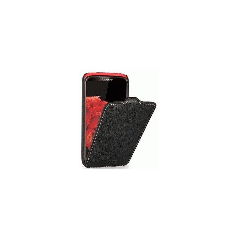 Кожаный чехол Tetded Flip для Lenovo S820 Black