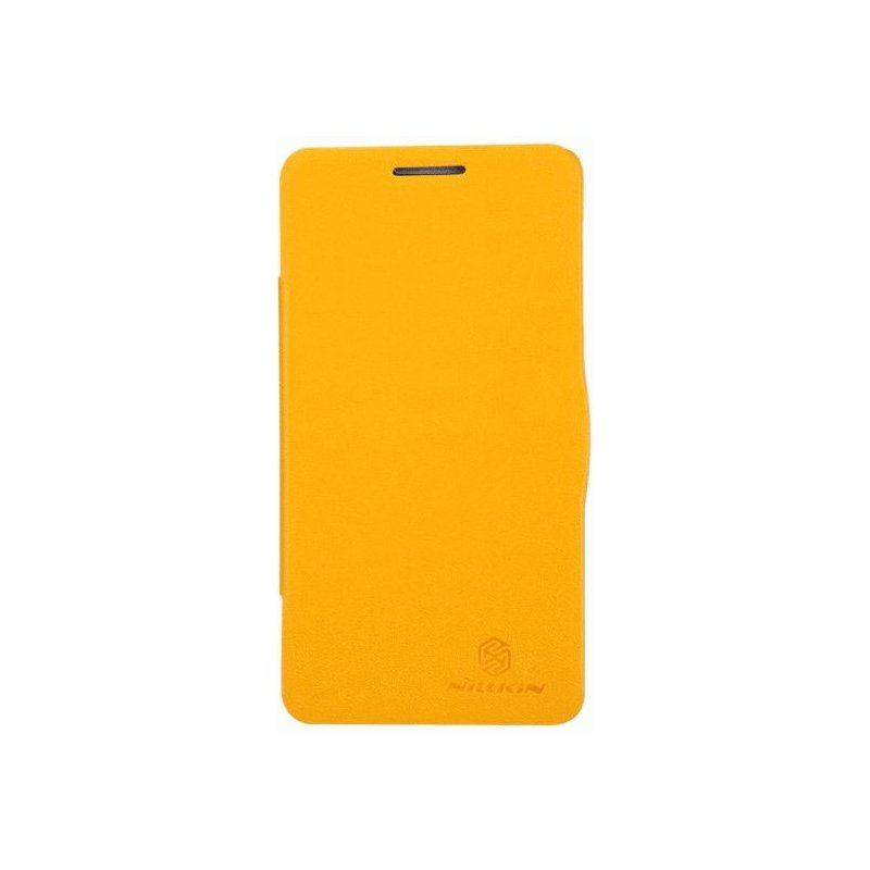 Кожаный чехол Nillkin Fresh Leather Case для Lenovo P780 Yellow